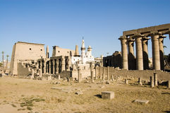 Luxor Temple with Mosque Royalty Free Stock Photography