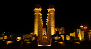 Luxor Temple. At night . city of luxor - Egypt Stock Image