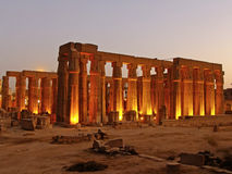 Luxor temple at night, Egypt Stock Photos