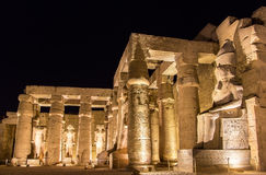 Luxor temple at night Royalty Free Stock Image