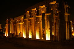 Luxor temple at night Stock Image