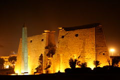 Luxor temple at night Royalty Free Stock Images