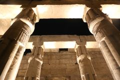 Luxor Temple at Night. Night view of Luxor Temple with night lights, Egypt Stock Images