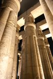 Luxor Temple - Night view. Night view of Luxor Temple with night lights, Egypt Royalty Free Stock Photos