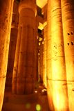 Luxor Temple - Night view. Night view of Luxor Temple with night lights, Egypt Stock Photo