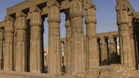 Luxor temple panning shot. Panning shot of Luxor temple Egypt stock video footage