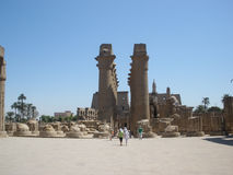 Luxor temple — the ruins of the Central temple of Amun-RA Stock Photo