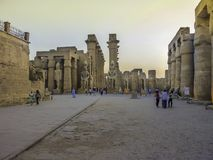 Luxor Temple at sunset. royalty free stock photography