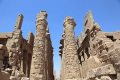 Luxor: templo antiguo de Karnak foto de archivo libre de regalías