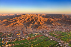 Luxor West Bank above Royalty Free Stock Images