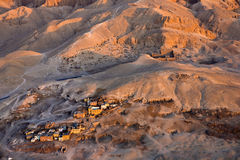 Luxor West Bank above Royalty Free Stock Photo