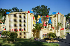 Luxorhotel in Las Vegas dat met Lego-blokken in Legoland Florida wordt gemaakt Stock Fotografie