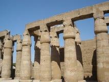 "Luxortempel †de"" ruïnes van de Centrale tempel van amun-Ra Stock Afbeelding"