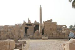 Luxortempel tegen de dagtijd in Egypte Stock Foto