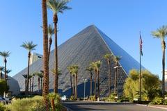 Luxortoevlucht en Casino, Las Vegas, NV Stock Foto