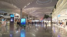 Luxory καταστήματα αερολιμένων της Ιστανμπούλ απόθεμα βίντεο