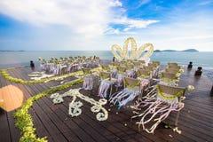 Luxry Wedding setting ceremony Stock Photos