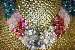 Luxuary ελαφριοί κύκλος αλουμινίου και μορφή λουλουδιών Στοκ Φωτογραφία