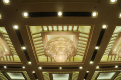 Luxuary hotel ceiling lamps Stock Image