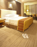 Luxuary hotel room. With warm lighting Royalty Free Stock Image