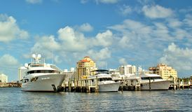 Luxuary yachts Royalty Free Stock Photography