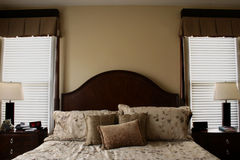Luxueus Bed Royalty-vrije Stock Afbeelding