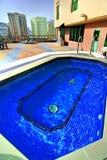 Luxueus hotel zwembad Royalty-vrije Stock Afbeelding