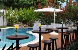 Luxueus huis en pool Royalty-vrije Stock Foto's
