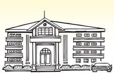 Luxueus huis of herenhuis royalty-vrije illustratie