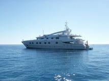 Luxueus jacht dichte omhooggaand royalty-vrije stock foto's