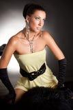 Luxueus Meisje. De Foto van de studio. Royalty-vrije Stock Afbeelding
