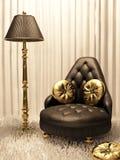 Luxueus meubilair in ontwerpbinnenland Royalty-vrije Illustratie