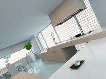 Luxueus modern keukenbinnenland vector illustratie