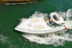 Luxueus Motorjacht Royalty-vrije Stock Afbeeldingen