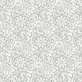 Luxueus naadloos bloemenbehang vector illustratie