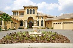 Luxueus nieuw huis Stock Afbeelding