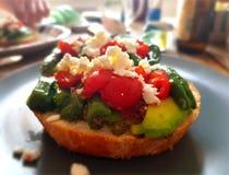 Luxueus plantaardig gezond ontbijt Stock Foto