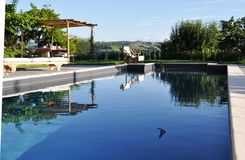 Luxueus privé zwembad Stock Fotografie