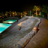 Luxueus toevlucht zwembad Stock Foto