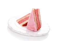 Luxueus zoet dessert. stock afbeelding
