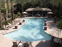 Luxueus zwembad Stock Afbeelding