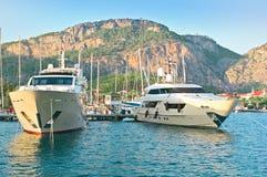 Luxueusement bateaux Images libres de droits