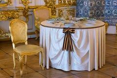 Luxueuze Binnenlands van Paleis Tsarskoye Selo Pushkin, heilige-Petersburg, Rus royalty-vrije stock foto