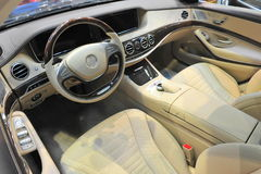 2014 luxueuze binnenlandse det van Mercedes Benz s-Klasse Royalty-vrije Stock Foto's