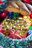Luxueuze Feestelijke chocolade Stock Foto's