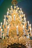 Luxueuze gouden kroonluchter Royalty-vrije Stock Afbeelding