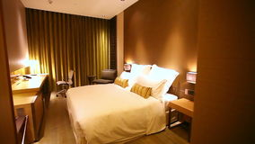 Luxueuze hotelruimte stock footage
