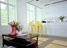Luxueuze keuken het 3d teruggeven Royalty-vrije Stock Afbeelding