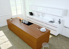 Luxueuze keuken het 3d teruggeven Stock Foto's
