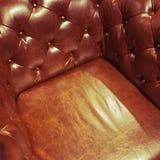 Luxueuze leerleunstoel Royalty-vrije Stock Foto's